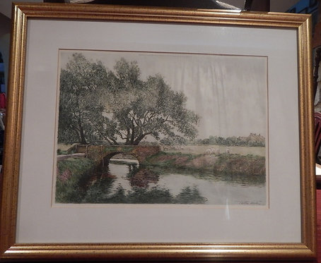 An Original Etching by Tatton Winter(DKS/464)