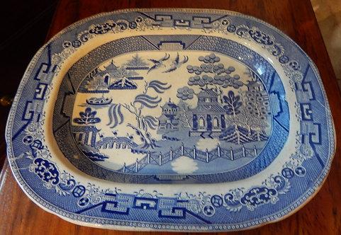 "A Lovely 19th Century ""Willow"" Platter (DKS/524)"