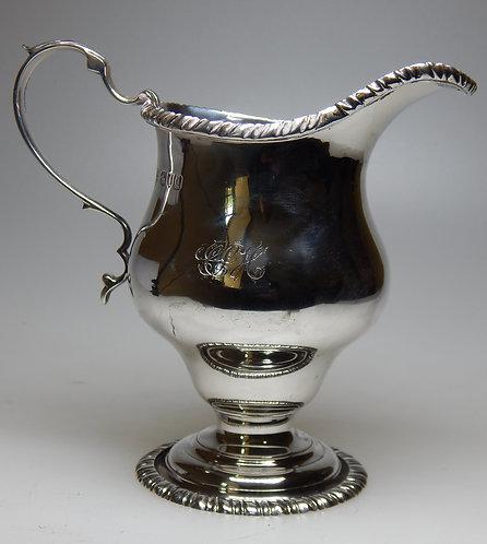 Large Silver Cream Jug in the Georgian Style
