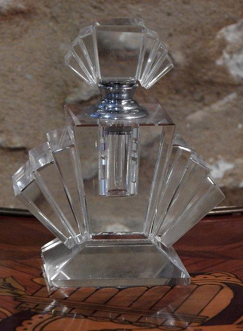 Art Deco Cut Glass Perfume Bottle (CB/986)