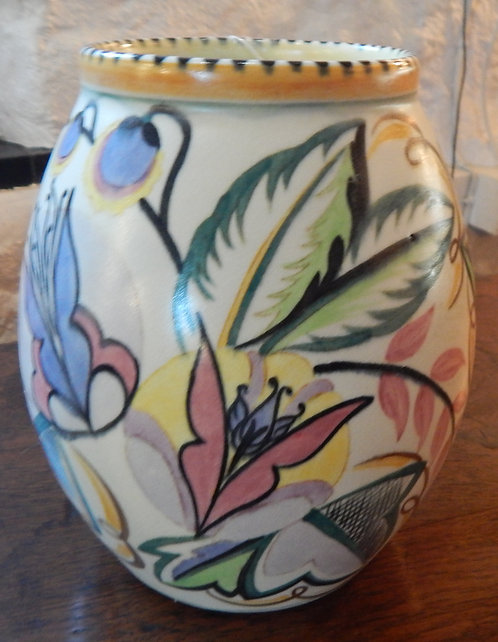 A Lovely Staffordshire Fantasy Ware Vase(COT/504)