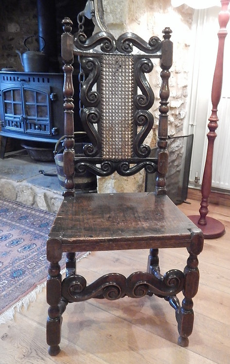 17th Century Walnut Cane Backed Chair (DKS/565)