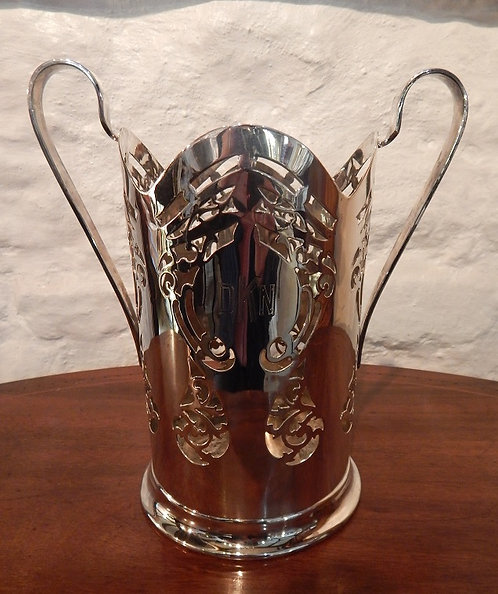 A Stunning Silver Plated Bottle Stand (DKS/492)