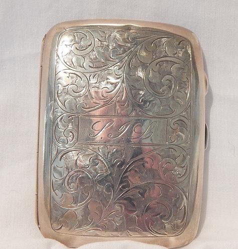 A Wonderful Silver Cigarette Case (CB/437)