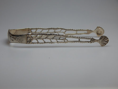 Sterling Silver Cast Sugar Tongs (PS/111)