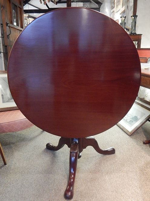 A George III Mahogany Tilt Top Table (DKS/527)