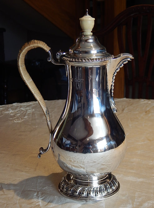 Large Victorian Silver Hot Water Pot