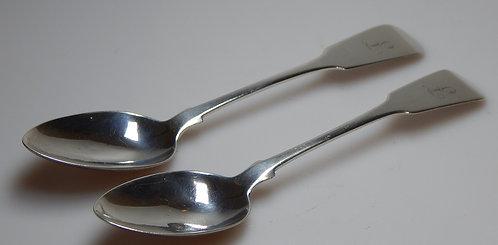 Pair of Scottish Teaspoons. Glasgow 1839