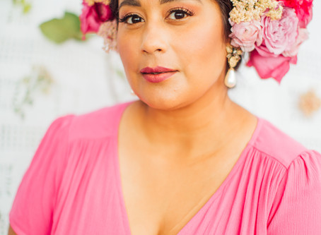 Floral Hairpieces // Styled Shoot