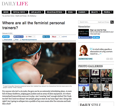Feminist Personal Trainer - Daily Life