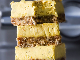 Raw Mango & Passionfruit Cheesecake Bites
