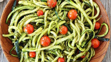 Zoodles With Pesto And Tomatoes