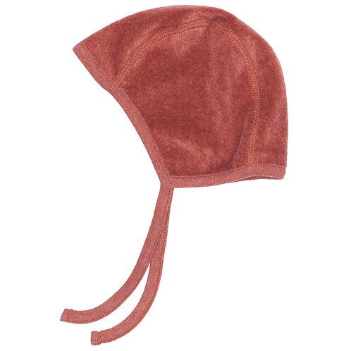 Baby velour bonnet