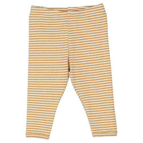 Baby Leggings Stripe Honey/Offwhite