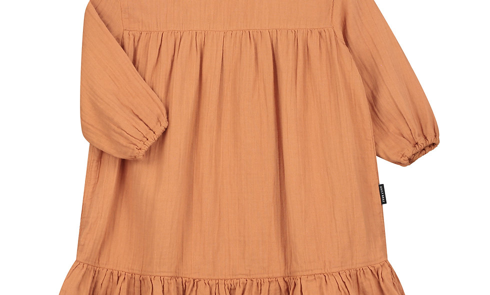 Lois Oversized Ruffle Kleid Canyon Clay