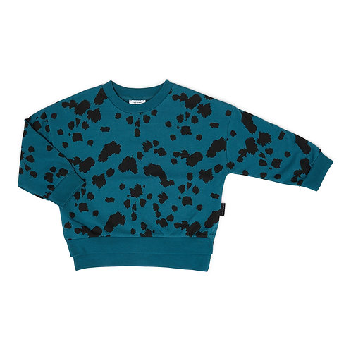 Dalmation sweater petrol green