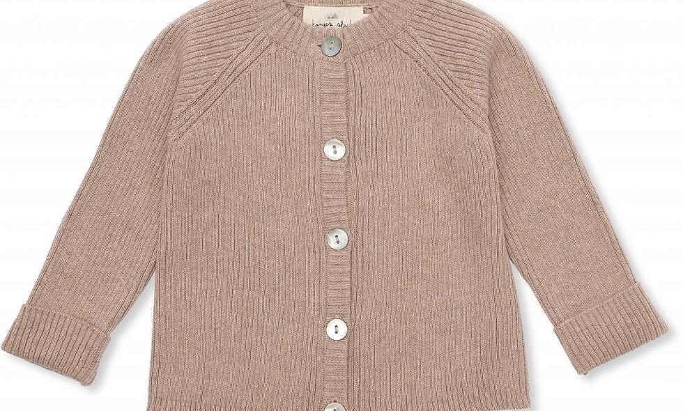 Meo Cardigan Cotton - Brown Melange