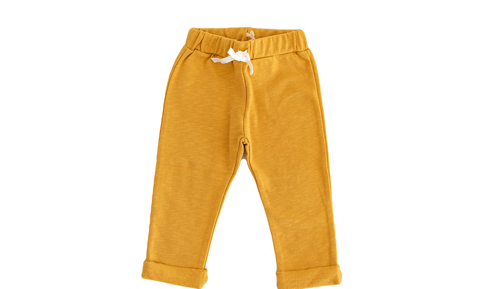 Sweat pants mustard