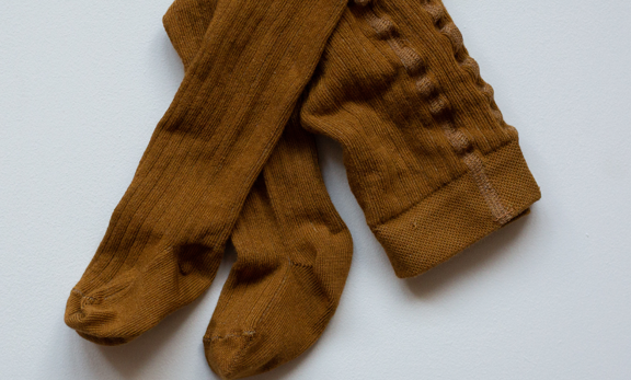 the SIMPLE FOLK ribbed tights