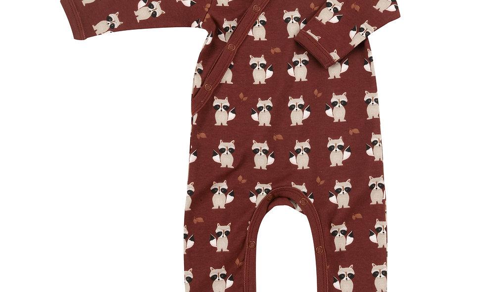 Kimono romper (print),raccoon - spice,0-3m