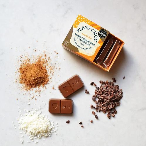 JustChoc Box Organic Peruvian Cacao M•lk Chocolate 50g