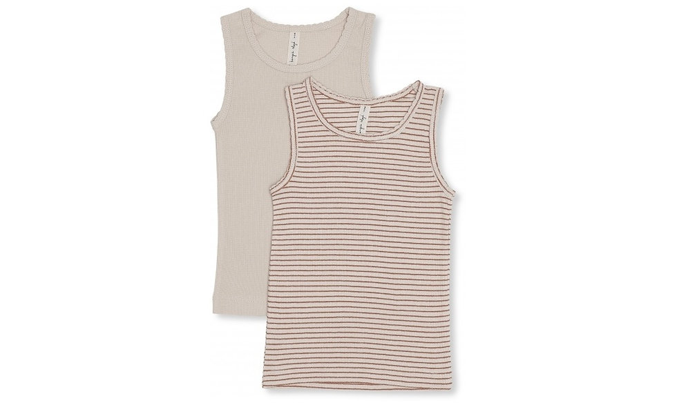 Tank Tops red - pack of two - girl