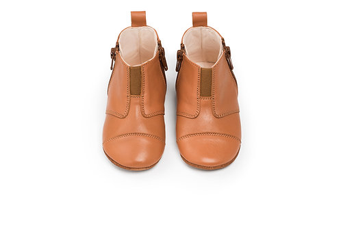 first step shoes | leather – sunset cognac