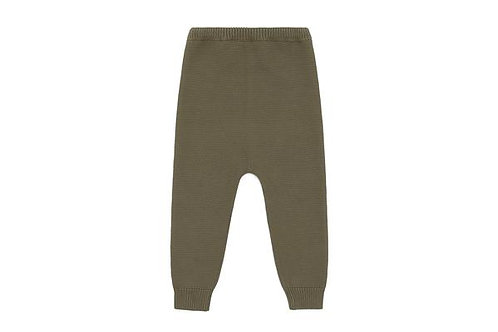 Knitted trousers in natural orange dye (beige)