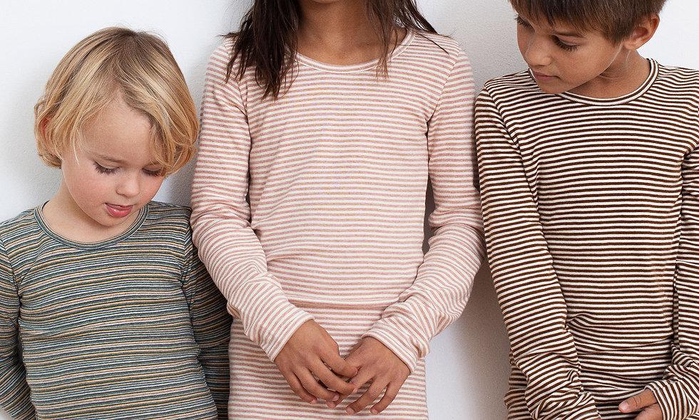 SERENDIPITY Striped leggings