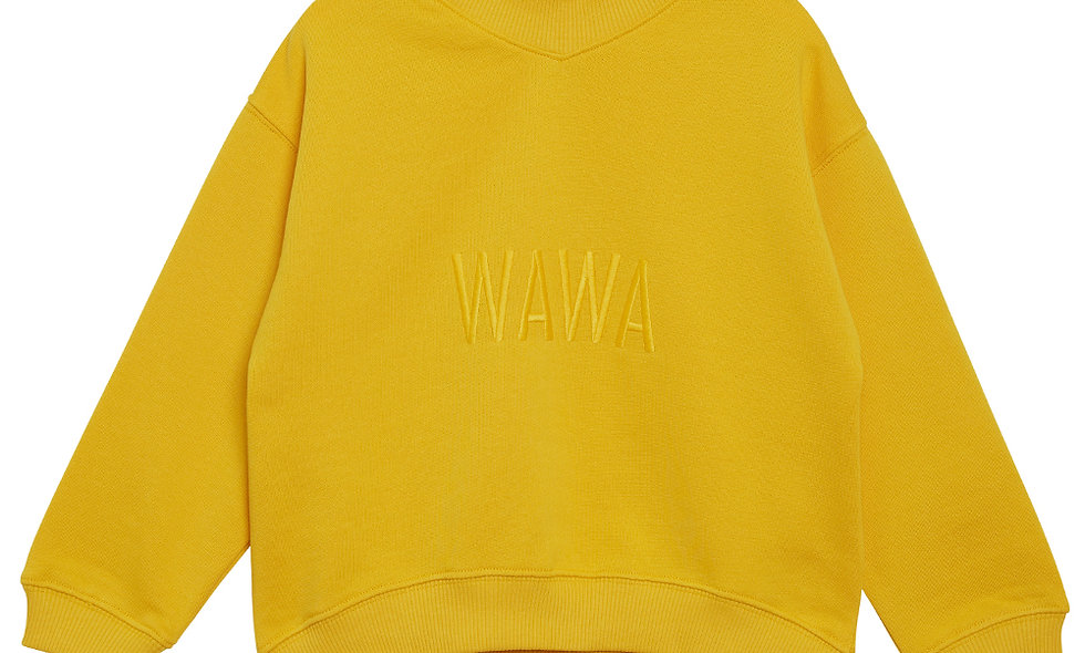 WAWA Hey Sweat shirt - lemon curd