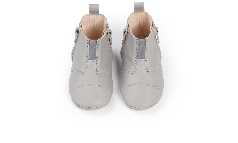 first step shoes | leather – cloud grey