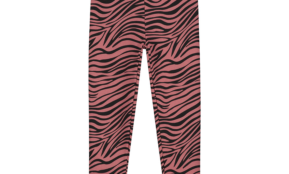 Zebra pants marsala