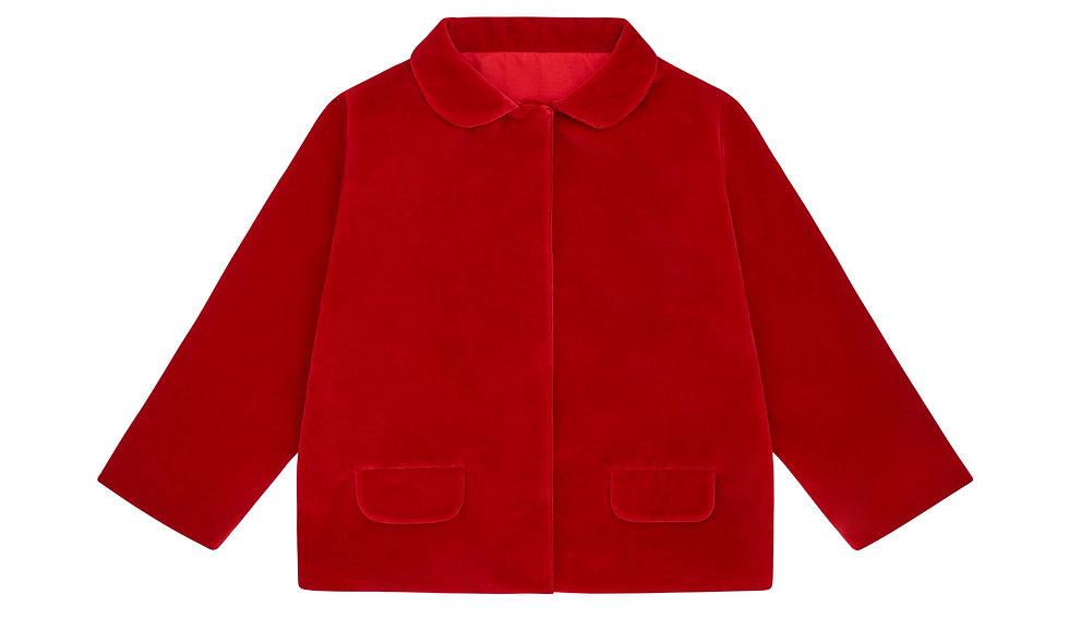 Jacket, Organic Red velvet