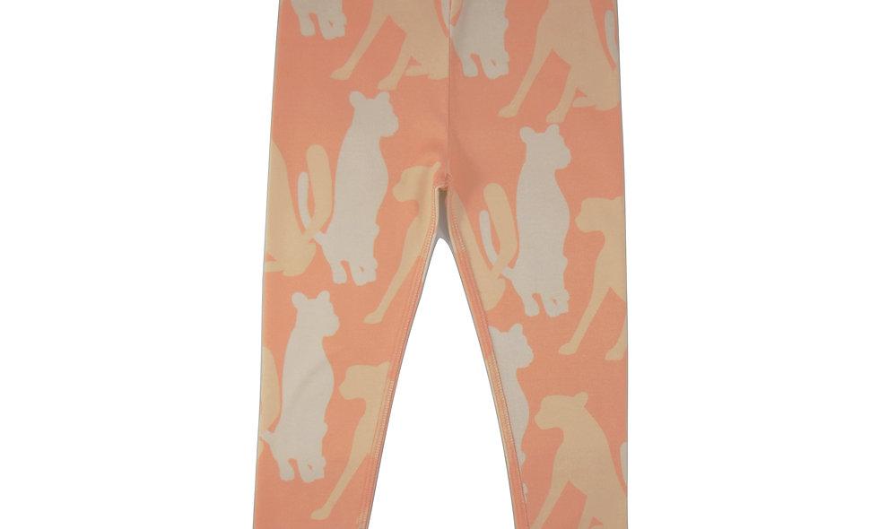 Cheetah leggings - neon orange