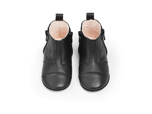 first step shoes | leather – night black