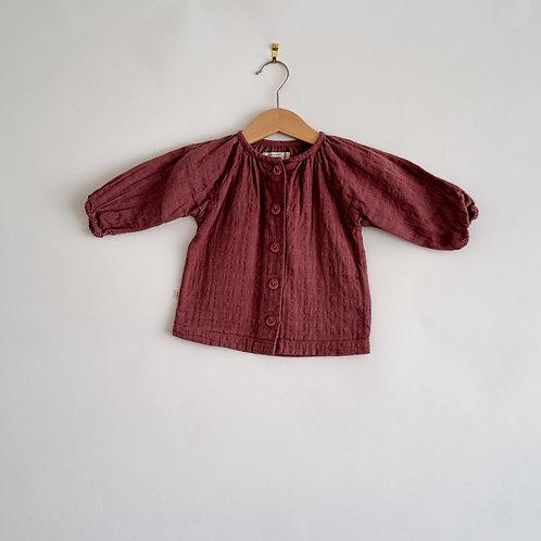 Pigeons muslin blouse - 3-6 months