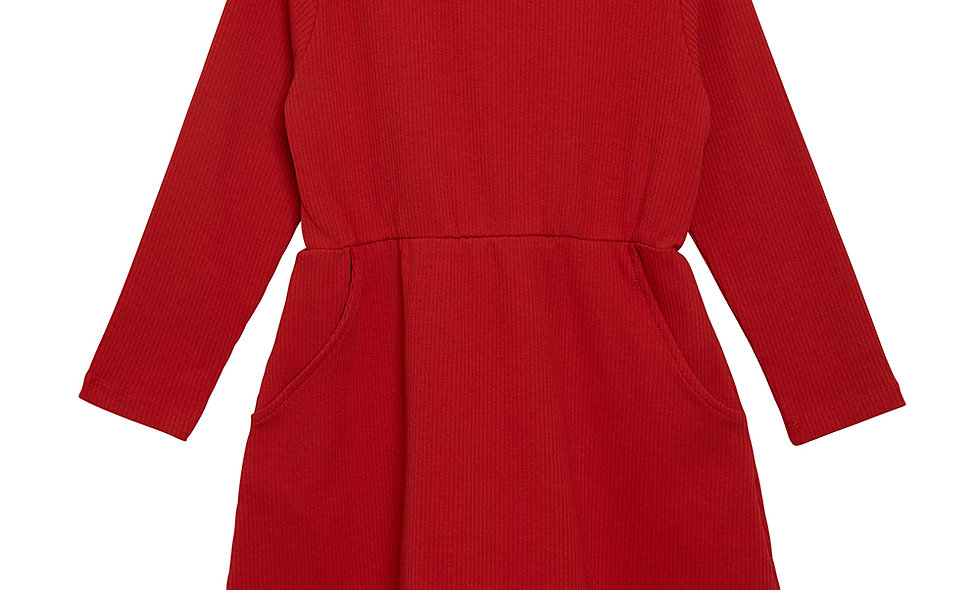 WAWA Rib dress - Red