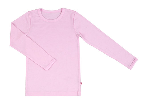 WOOLAMI Long sleeve top powder pink
