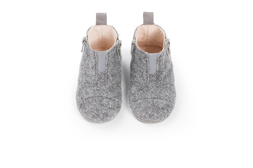 first step shoes | wool – misty grey