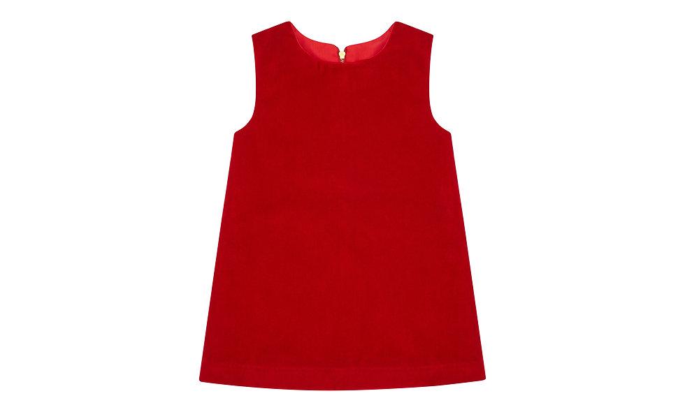 Dress, Organic Red Velvet