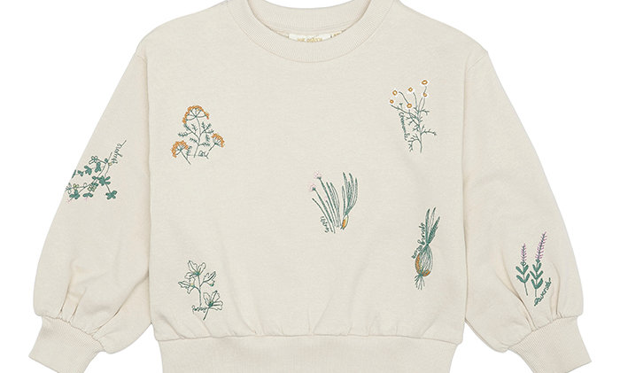 Seedpearl with herbs AOP, Elvira Sweatshirt