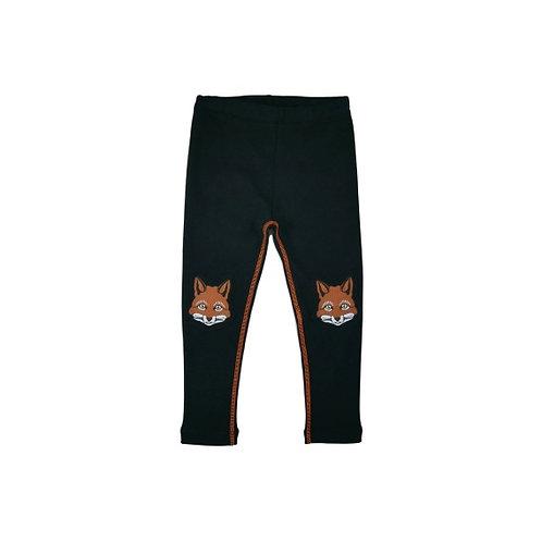 Leggings with printed knees - Fox