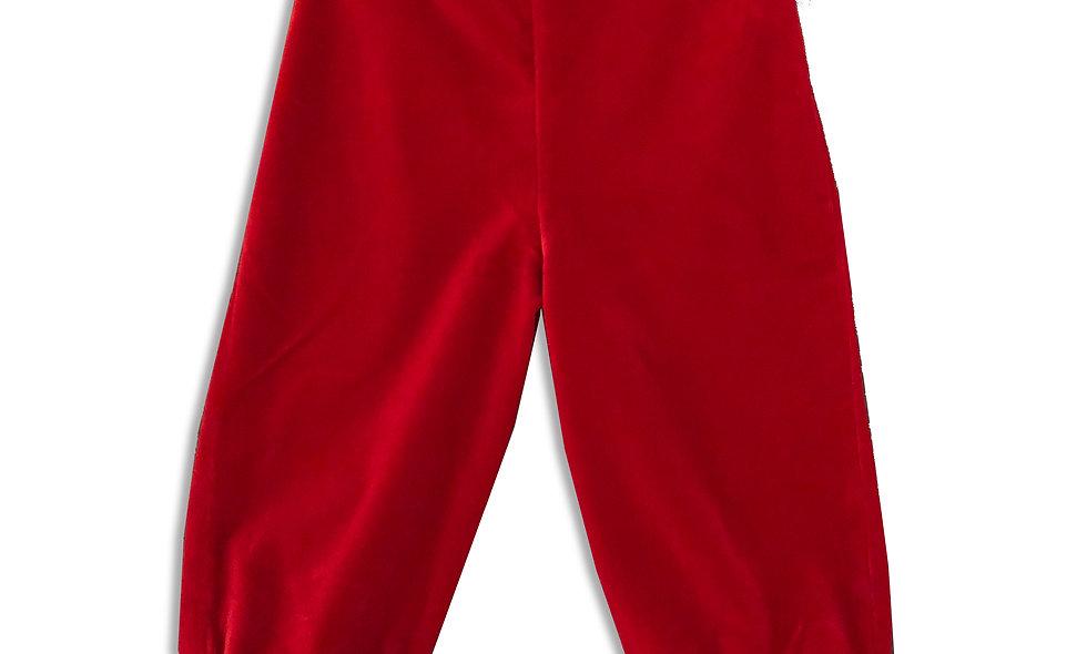 Trousers, Organic Red Velvet