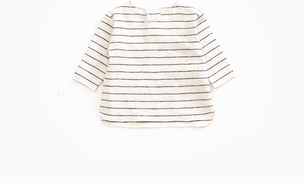 Long-sleeved t-shirt in organic cotton | Weaving