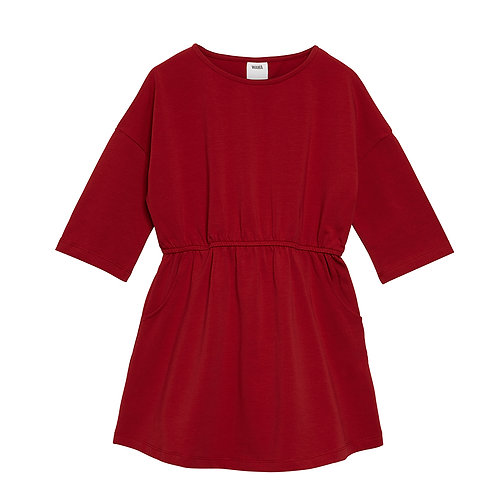 Polly Dress- spicy red