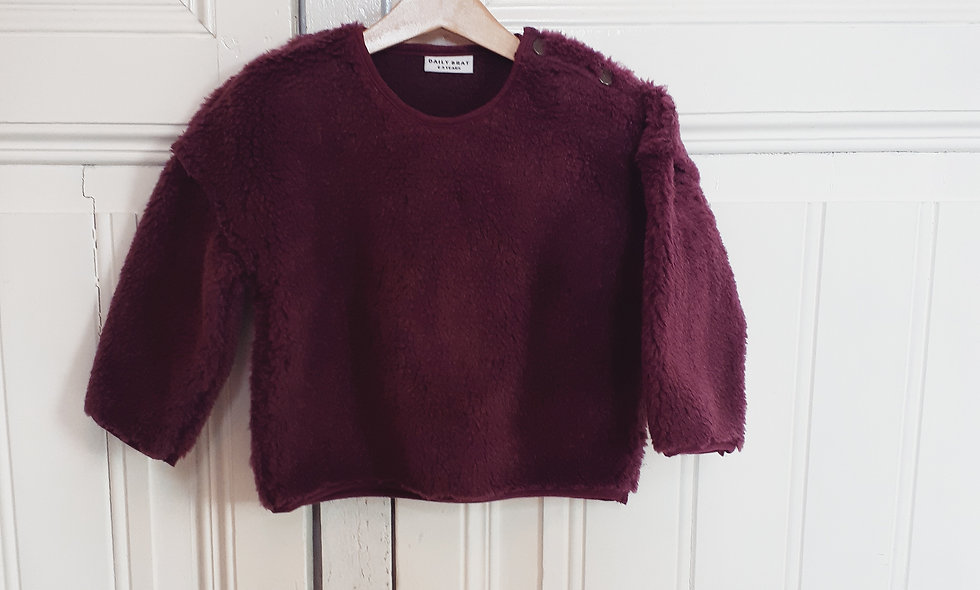 Teddy oversized sweater mulberry