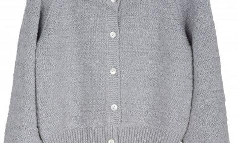 texture cardi in light grey