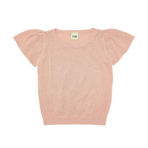 T shirt with puff sleeves