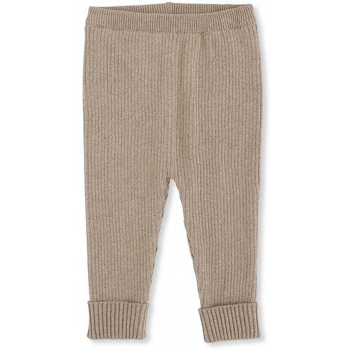 Meo Knit Pants Cotton - Brown Melange