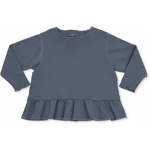 Ebi Frill Blouse - thunder Blue